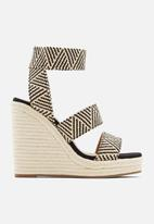 Call It Spring - Marichini wedge - black & cream