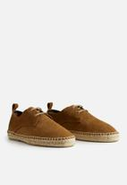 MANGO - James suede leather shoes - light pastel brown