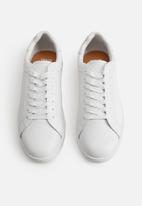 MANGO - Leather sports sneaker - white