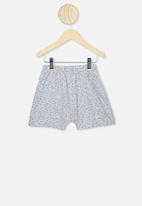 Cotton On - Harpa short sleeve pyjama set - grey & blue