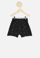 Cotton On - Hudson short sleeve pyjama set - black