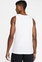Nike - Nsw icon futura tank - white &  black