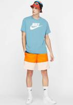 Nike - Nsw icon futura short sleeve tee - cerulean & white