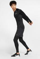 Nike - Np long sleeve tight fit top - black