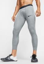 Nike - Nike pro 3/4 tights - grey & black