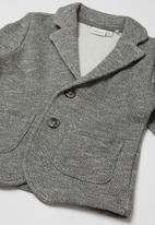 name it - Boys blazer - grey melange