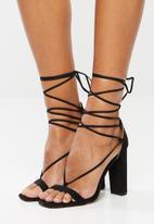 Public Desire - Frankie block heel - black