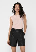 Jacqueline de Yong - Engel life short sleeve top - peach