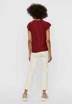 Vero Moda - Brielle cap sleeve top - red