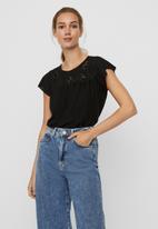 Vero Moda - Brielle cap sleeve top - black