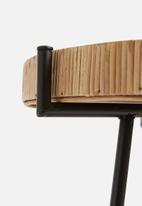 Sixth Floor - Rattan side table - neutral