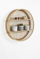 Sixth Floor - Bamboo round wall shelf - neutral