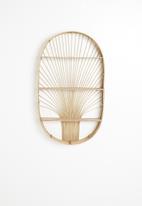 Sixth Floor - Ovia rattan shelf - neutral