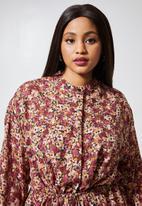 Superbalist - Printed sheer longline shirt dress - multi