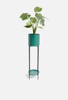H&S - Flower pot stand - teal