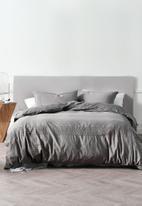 Linen House - Mayfair duvet cover set - grey