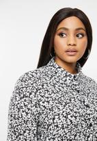 Glamorous - Plus mini dalmation tunic - black & white