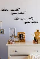 Umbra - Mantra wall decor - black