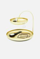 Umbra - Poise two tiered tray - brass