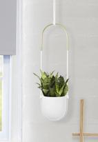 Umbra - Bolo planter - white