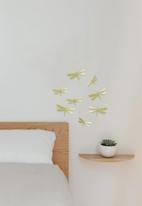 Umbra - Wallflutter wall decor set 8 - brass