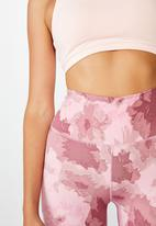 Cotton On - Lifestyle 7/8 tight - washed rose camo floral