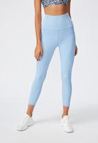 Cotton On - Rib 7/8 tight - skye blue rib