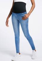 Cherry Melon - Faded powerfit skinny jeans - blue