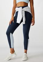 Cotton On - So soft marle 7/8 tight - navy marle splice