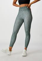 Cotton On - So soft marle 7/8 tight - steely shadow ikat pebble