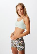 Cotton On - So soft racer crop - aloe marle