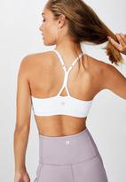 Cotton On - So soft racer crop - white