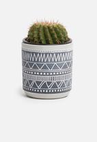 H&S - Mini tribal planter - black