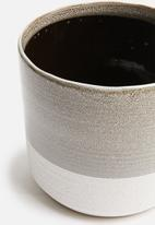 H&S - Sandy planter - grey & white