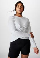 Cotton On - Curve active knot front long sleeve top - grey