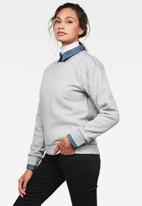 G-Star RAW - Premium core sweat long sleeve - grey