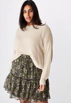 Cotton On - Curve finley mini skirt - Emily floral paisley black