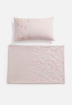 Sheraton Textiles - Candy pop embroidered duvet cover set - pink