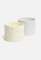 H&S - Terrazzo candle - cream