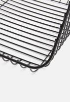 Excellent Housewares - Small stackable wire basket - black