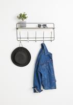 H&S - Hook & shelf rack - black