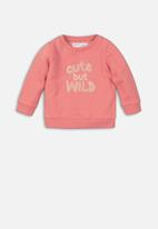 MINOTI - Kids fleece jumper - coral