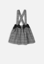 MINOTI - Checked skirt with straps check - grey