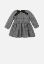 MINOTI - Teens checked smock dress check - grey & black