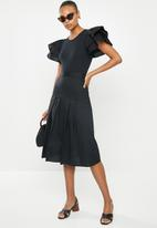 MILLA - Ruffle sleeve bodysuit - black