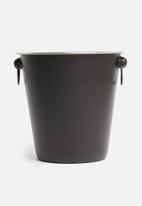 Excellent Housewares - Champagne cooler - black & chrome