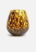 H&S - Zora vessel - amber speckle