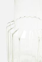 H&S - Glass vase - gold
