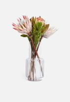 H&S - Glass vase blue