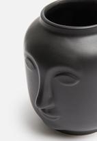 H&S - Face vase - black
